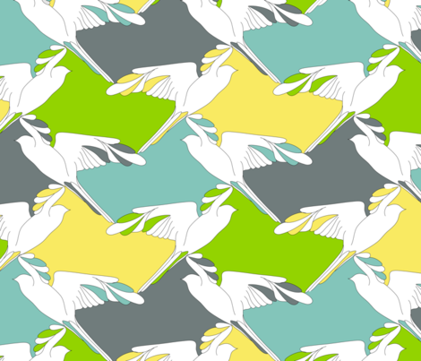 bird_flight_of_fancy fabric by rjtext on Spoonflower - custom fabric