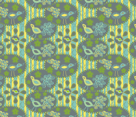 Peacock Stripe fabric by rubydoor on Spoonflower - custom fabric