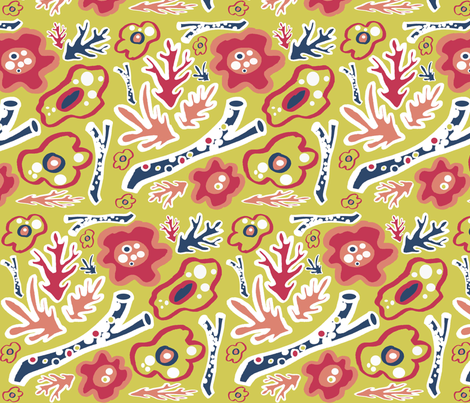 Piece of Matisse fabric by graceful on Spoonflower - custom fabric
