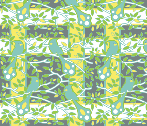 fancy bird plaid fabric by zinniagirl on Spoonflower - custom fabric