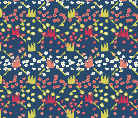 Monarchs in the Garden fabric by owlandchickadee on Spoonflower - custom fabric