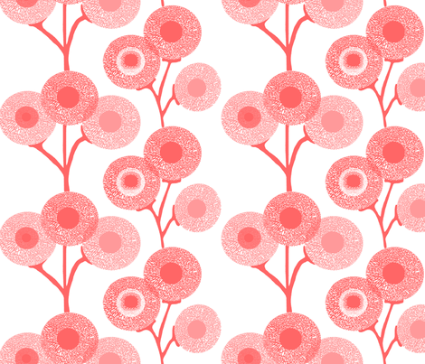 Pink Grapefruit Puffs fabric by weatherkim on Spoonflower - custom fabric