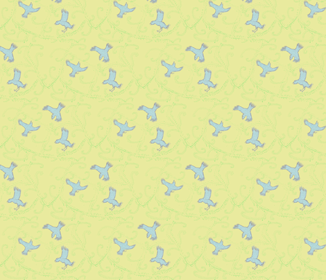 birds fabric by happyturtle on Spoonflower - custom fabric