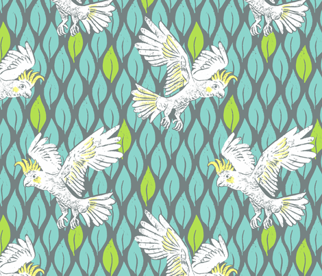Classic Cockatoo fabric by neatdesigns on Spoonflower - custom fabric