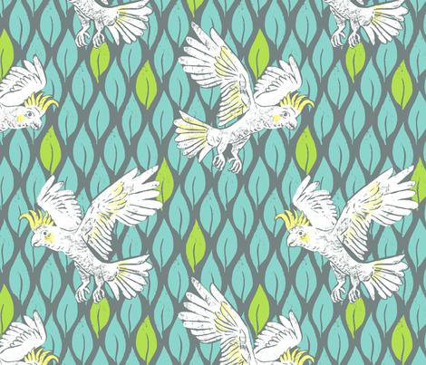Classic Cockatoo fabric by neatdesigns on Spoonflower - custom fabric