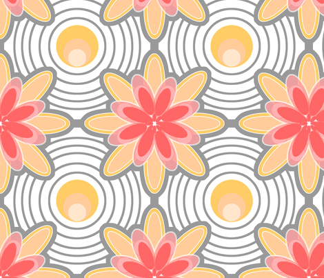 Concentric Circle Flowers fabric by weatherkim on Spoonflower - custom fabric
