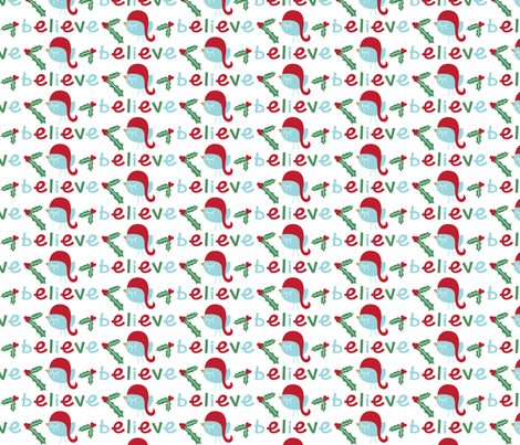 christmas believe fabric by misstiina on Spoonflower - custom fabric