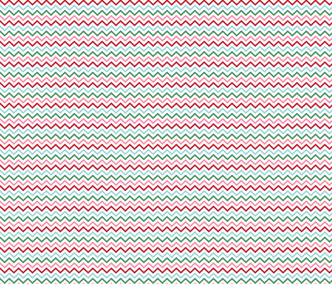 christmas chevron fabric by misstiina on Spoonflower - custom fabric