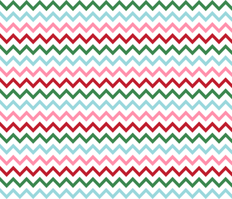 christmas chevron multi one fabric by misstiina on Spoonflower - custom fabric