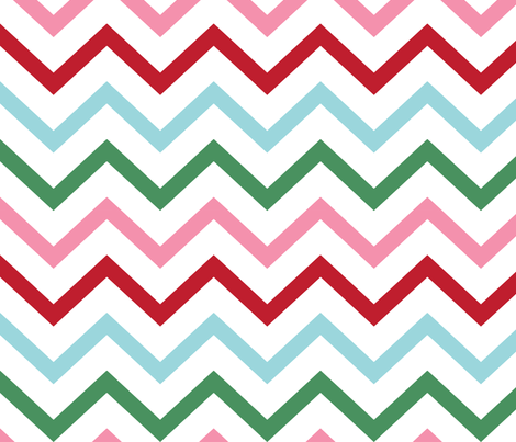 christmas chevron lg fabric by misstiina on Spoonflower - custom fabric