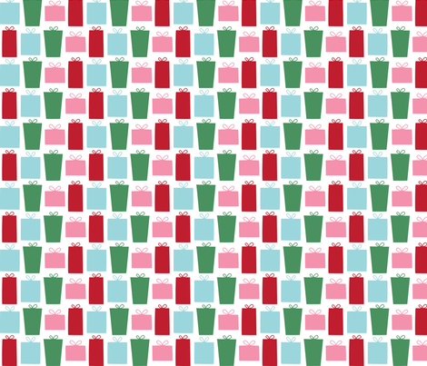 christmas presents fabric by misstiina on Spoonflower - custom fabric