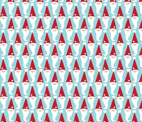 christmas santa fabric by misstiina on Spoonflower - custom fabric