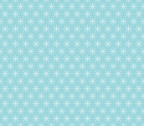 christmas snowflakes on blue fabric by misstiina on Spoonflower - custom fabric