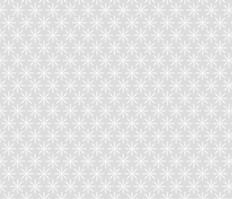 christmas snowflakes on grey fabric by misstiina on Spoonflower - custom fabric