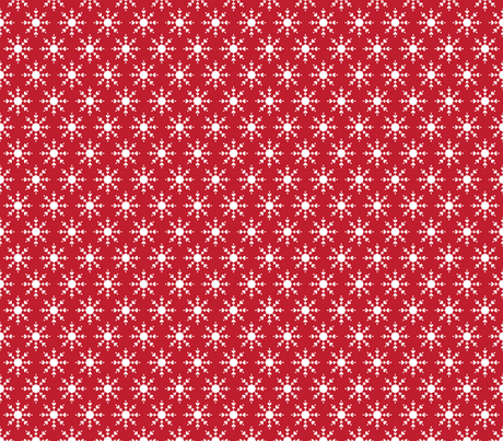 christmas snowflakes on red fabric by misstiina on Spoonflower - custom fabric