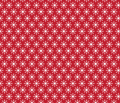 christmas snowflakes on red