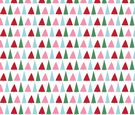 christmas trees fabric by misstiina on Spoonflower - custom fabric
