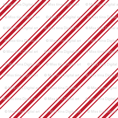christmas candy cane stripes red XL