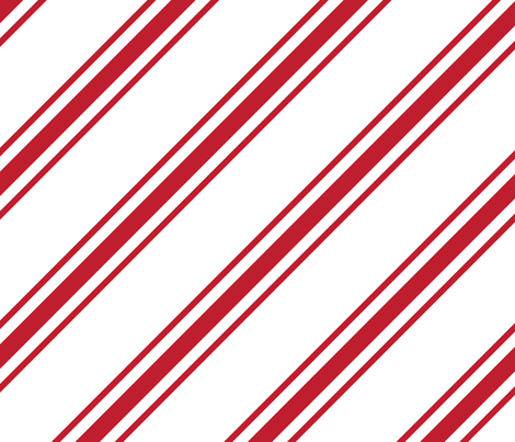 christmas candy cane stripes red XL fabric by misstiina on Spoonflower - custom fabric