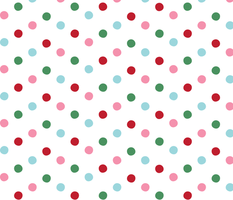 christmas zigzags dots lg fabric by misstiina on Spoonflower - custom fabric