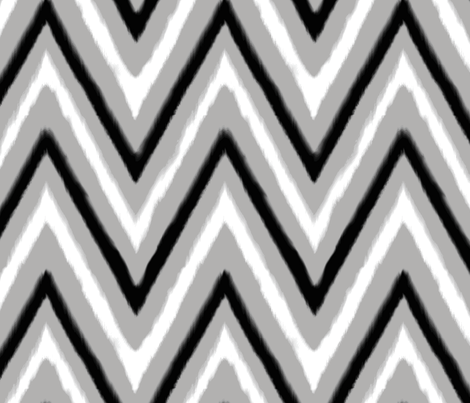 Black & Gray Chevron 3 fabric by fable_design on Spoonflower - custom fabric