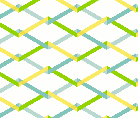 garden trellis fabric by fable_design on Spoonflower - custom fabric