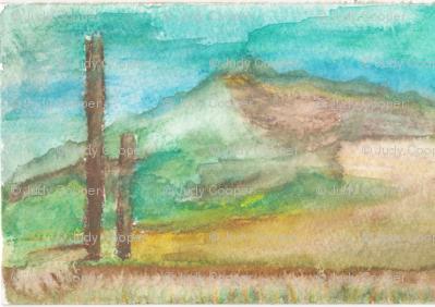 Watercolor of Amagansett, Long Island, NY
