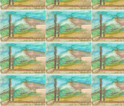 Watercolor of Amagansett, Long Island, NY fabric by artist55 on Spoonflower - custom fabric
