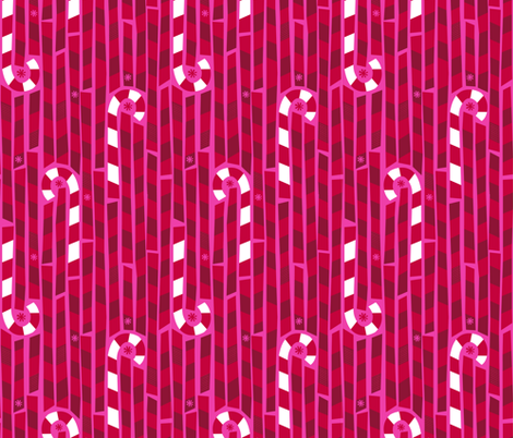 Candy Cane Lane fabric by acbeilke on Spoonflower - custom fabric