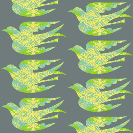 Bird Songs 17 - Flights of Fancy  fabric by dovetail_designs on Spoonflower - custom fabric