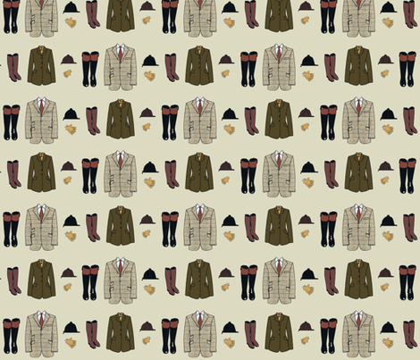 The Proper Attire fabric by ragan on Spoonflower - custom fabric