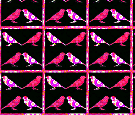 Bird Songs 24 - Duets - Birds of a Feather fabric by dovetail_designs on Spoonflower - custom fabric