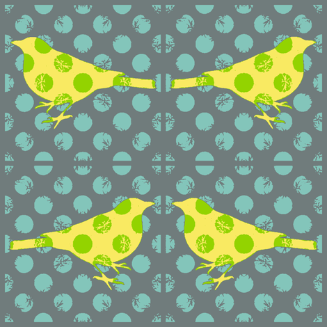 Bird Songs 19 - Flights of Fancy  fabric by dovetail_designs on Spoonflower - custom fabric