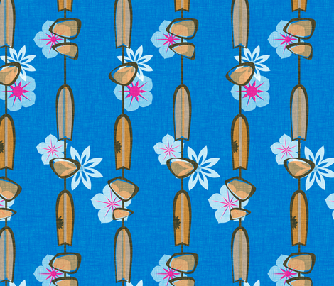 Shark Attack - lagoon fabric by thecalvarium on Spoonflower - custom fabric