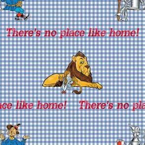 Oz Gingham ~ No Place Like Home With Good Friends