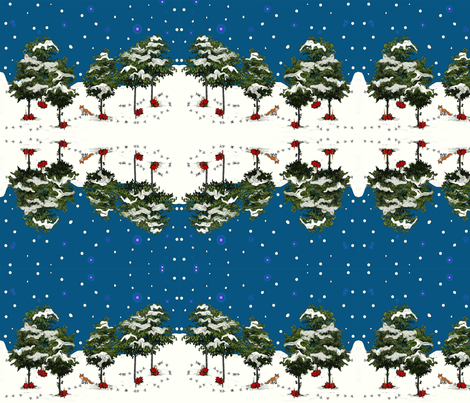 Christmas Woodland fabric by heavenly_lotus on Spoonflower - custom fabric