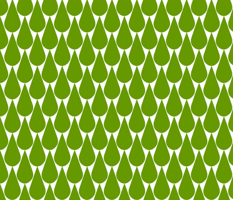 Rain (green) fabric by pattern_bakery on Spoonflower - custom fabric