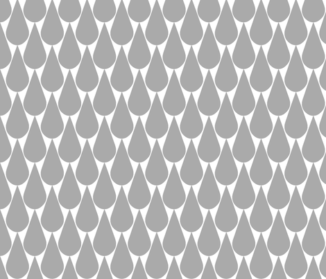 Rain (gray) fabric by pattern_bakery on Spoonflower - custom fabric