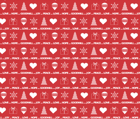 Christmas wrapping paper fabric by little_fish on Spoonflower - custom fabric