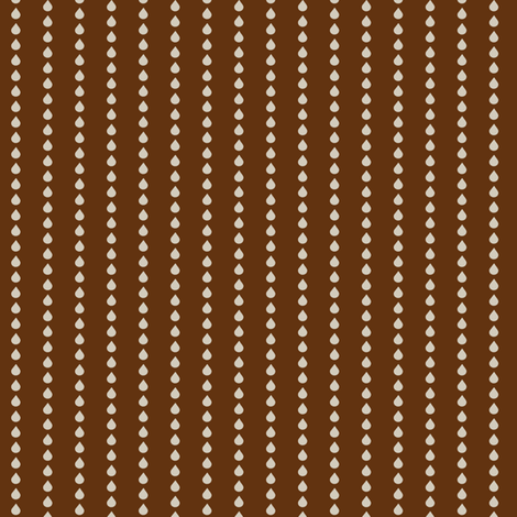 Rainy Day - Chocolate fabric by fig+fence on Spoonflower - custom fabric