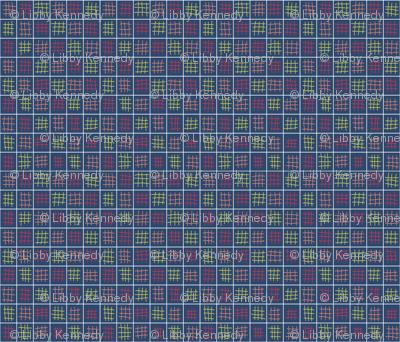 M blue weave