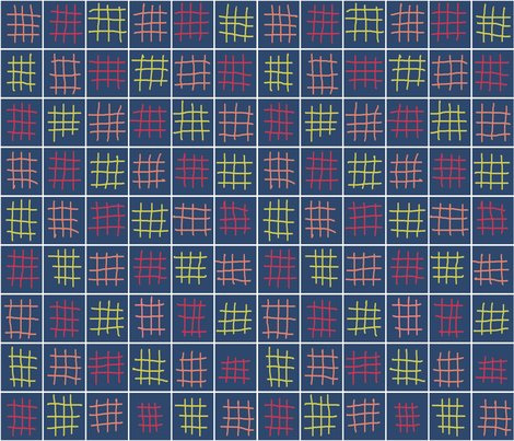 M blue weave fabric by flying_pigs on Spoonflower - custom fabric