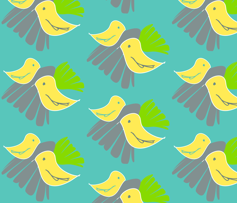 birdies fabric by artsycanvasgirl on Spoonflower - custom fabric
