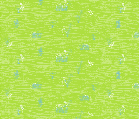 day life with rabbits and mice fabric by creative_merritt on Spoonflower - custom fabric