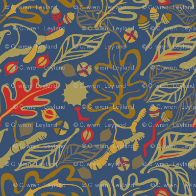 Leaves and Nuts -Matisse Homage