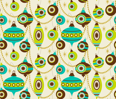 Sassy Striped Swags ~ lime chill fabric by retrorudolphs on Spoonflower - custom fabric