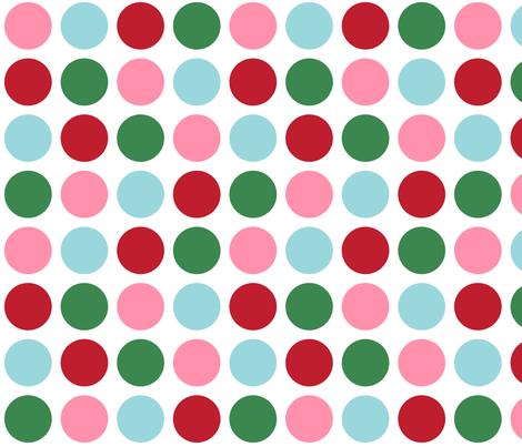 christmas polka dots one XL fabric by misstiina on Spoonflower - custom fabric