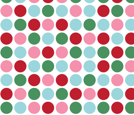christmas polka dots lg fabric by misstiina on Spoonflower - custom fabric