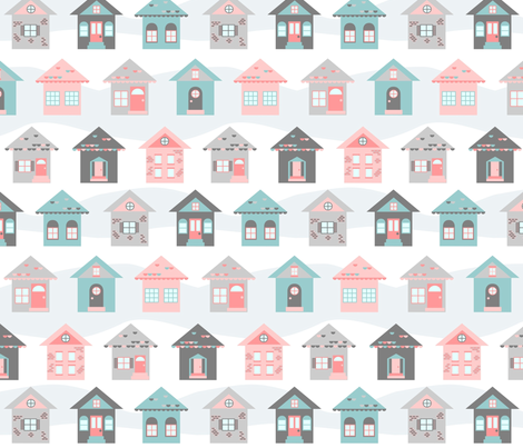 winter_cottages fabric by crystalef on Spoonflower - custom fabric
