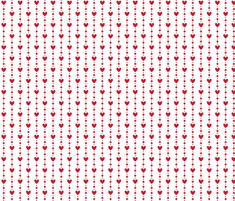 christmas red hearts fabric by misstiina on Spoonflower - custom fabric